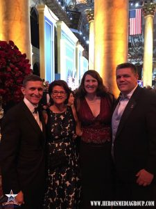 LTG Flynn/National Security Advisor and Mrs. Flynn with Heroes Media Group Director of Communications, Carl S. Ey and Jennifer Ey.