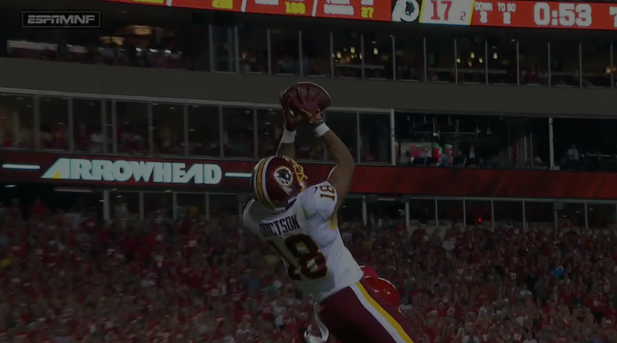 Redskins Fall to Chiefs in Week 4